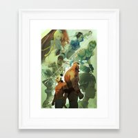 street fighter Framed Art Prints featuring Street Fighter by jaimito