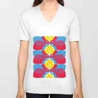 rabbits V-neck T-shirts featuring Rabbits by aquamarine