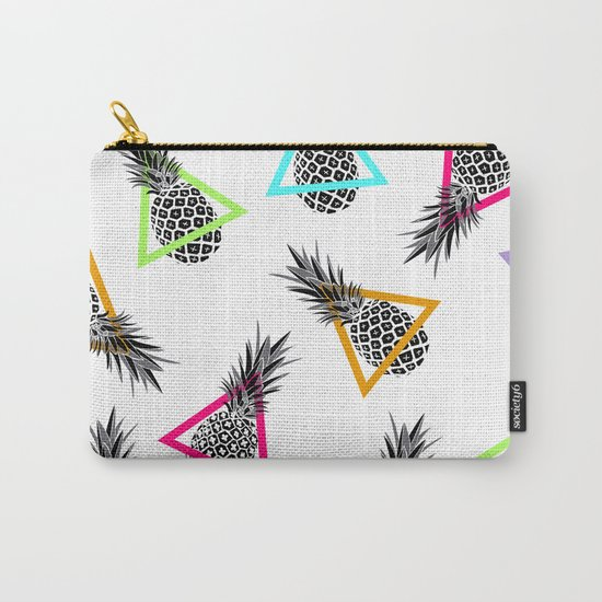 Pineapples & Triangles Carry-All Pouch