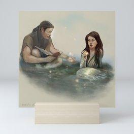 The Mermaid and the Poet Mini Art Print