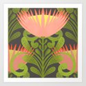 King Protea Flower Pattern - Gray by sewzinski