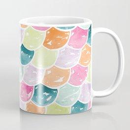 Mermaid Scales | Orange, Green and Pink Coffee Mug