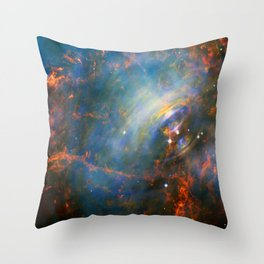 Beating Heart of the Crab Nebula Throw Pillow