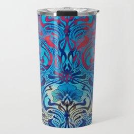 Art Nouveau,blue ombre, beautiful pattern, belle epoque,victorian,elegant,chic,modern,trendy,vibrant Travel Mug
