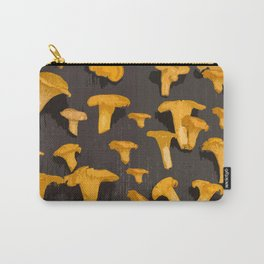 Chantterelles On A Dark Grey Background - Autumn Harvest - #Society6 #buyart Carry-All Pouch
