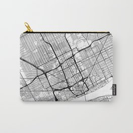 Detroit Map White Carry-All Pouch