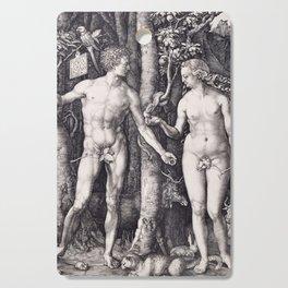 Adam and Eve by Albrecht Dürer Cutting Board
