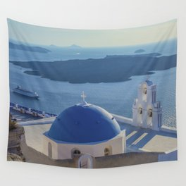 Santorini Island, Greece Wall Tapestry
