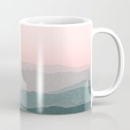 Dreamy mountains and pink sky. Coffee Mug