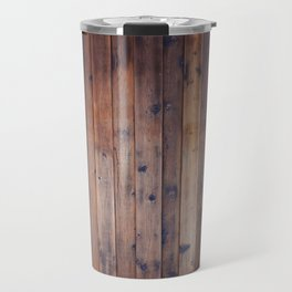 Dark Brown Wood Travel Mug