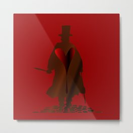 Jack the Ripper Heart Metal Print