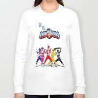 power rangers Long Sleeve T-shirts featuring porno rangers by Anthrackie