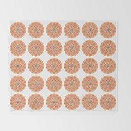 Collage of orange madalas Throw Blanket