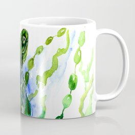 Green Turtle Olive green Wall art Coffee Mug