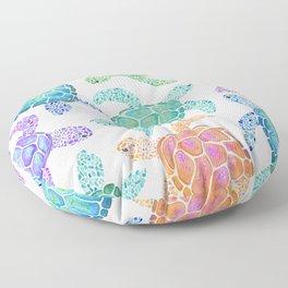 Sea Turtle - Colour Floor Pillow