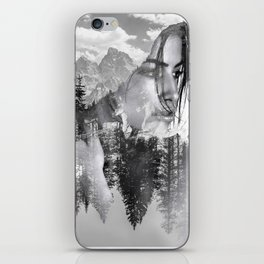 Lady Wild Horse iPhone Skin