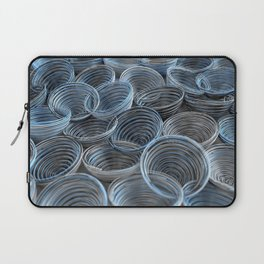Black, white and blue spiraled coils Laptop Sleeve