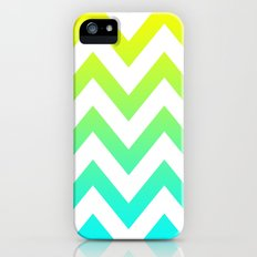 YELLOW & TEAL CHEVRON FADE iPhone (5, 5s) Slim Case