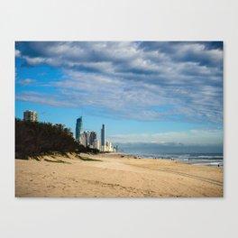 Broadbeach To Surfers Paradise Canvas Print