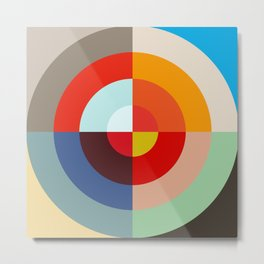 Spring - Colorful Classic Abstract Minimal Retro 70s Style Graphic Design Metal Print