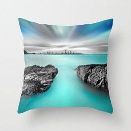 Quantum Divide Throw Pillow
