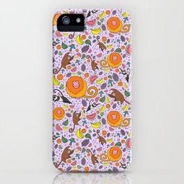 Cute Tropical Pattern iPhone Case