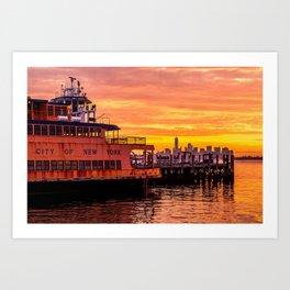 Ferry Boat John F. Kennedy Art Print