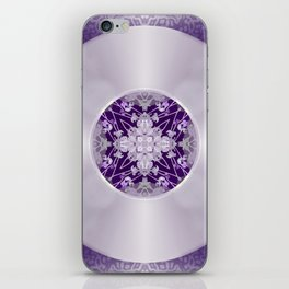 Vinyl Record Illusion in Purple iPhone Skin