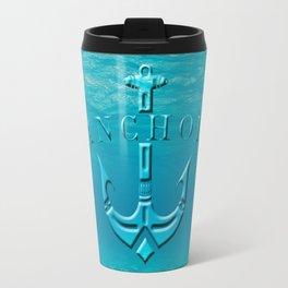 Anchor in the sea Travel Mug