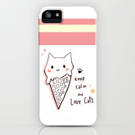 Keep calm and love cats *MeowCollection* iPhone Case