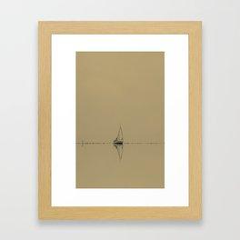 Vintage Sailboat Framed Art Print