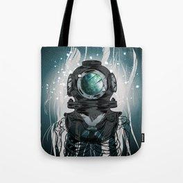 Deep Space Diver Tote Bag