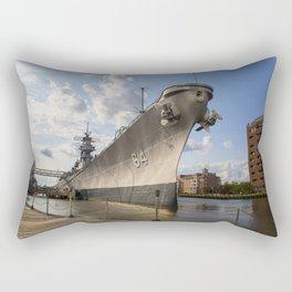 USS Wisconsin Rectangular Pillow