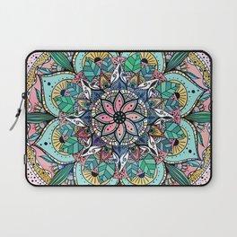 Bohemian Colorful Watercolor Floral Mandala Laptop Sleeve