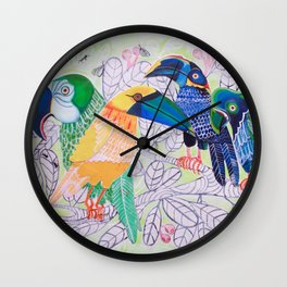 Squawkward Silence Wall Clock