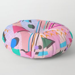 80s pop retro 2 Floor Pillow