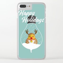 Merry Christmas Ducky Pt.2 Clear iPhone Case