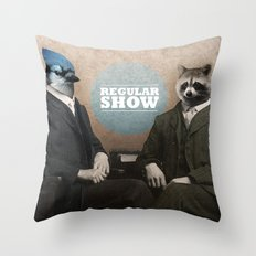 Mordecai & Rigby Throw Pillow