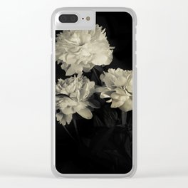 White peonies2 Clear iPhone Case