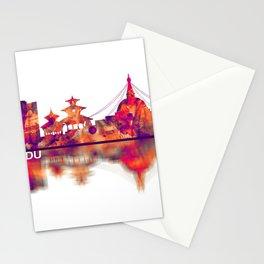Kathmandu Nepal Skyline Stationery Cards