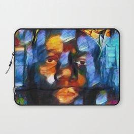 """African American 'King of New York,' Bedford–Stuyvesant """"Biggie"""" Mural Portrait Laptop Sleeve"""