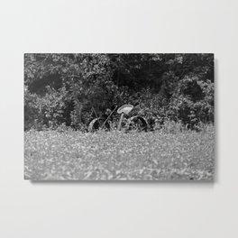 Vintage Horse-drawn Farm Mower Metal Print