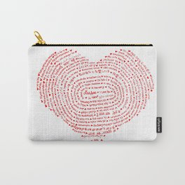 I Love You (Languages of Love Heart) Carry-All Pouch