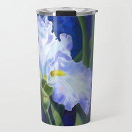 Blue Ruffles Travel Mug