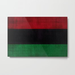 UNIA flag, Afro-American flag, Black Liberation flag Motif Metal Print