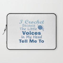 Crochet Because Little Voices Laptop Sleeve