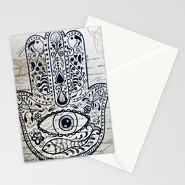 Hamsa Evil Eye for Protection Stationery Cards