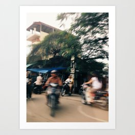 phnom penh in motion 1 Art Print