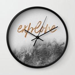 EXPLORE I x II Wall Clock