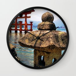 Lonely Lantern (Japan) Wall Clock